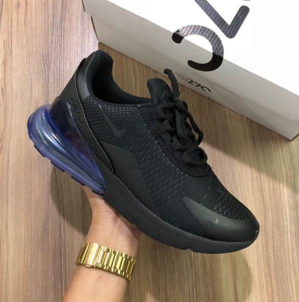1dd84ee20 Tênis Nike Air Max 270 Preto c  Azul - Outlet Ser Chic