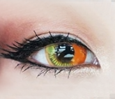 Coscon Anime Eyes - Orange - 14.5mm