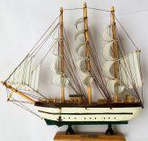 Mini Navio a Velas de Madeira Barco Veleiro