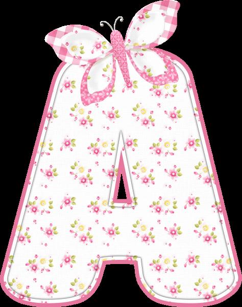 Alfabeto - Florido 1 - PNG