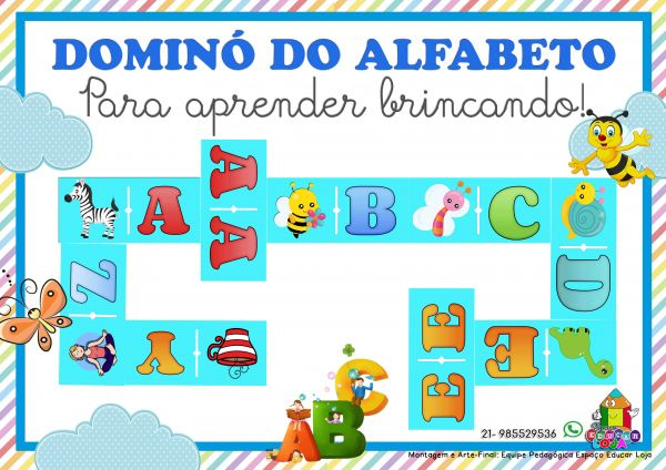 Dominó do alfabeto jogo educativo PDF76