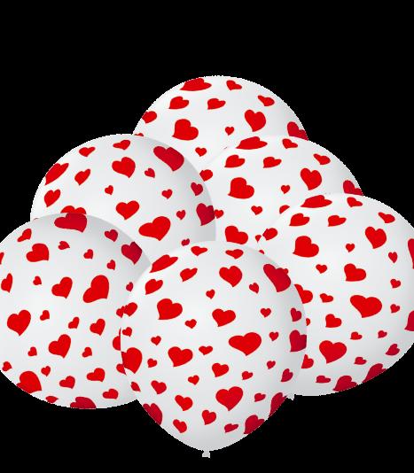 Balão Decorado Corações Nº9 25un