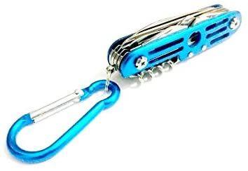 Canivete Multifunção Azul mais de 10 funções Multiuso + Mini Luminária de Leitura - 7cm