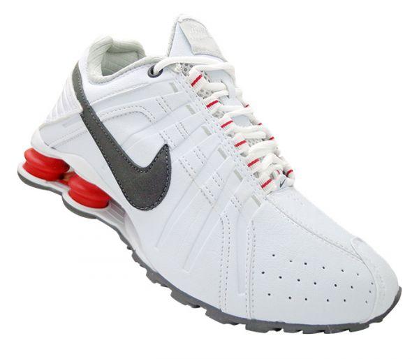 Tênis Nike Shox Junior Branco e Vermelho MOD 13446 - Multimarcas Outlet 2052a509971b4