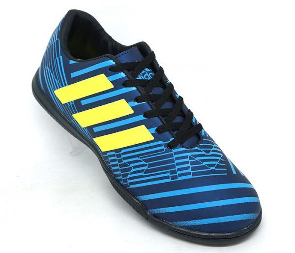 47310cc413 Chuteira Adidas Nemeziz 17.4 Futsal Azul e Verde - AGP Roupas e ...