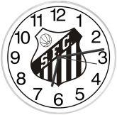Relógio de parede Santos F. C.
