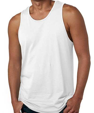 Camiseta regata de malha 100% poliester branca - Loja de aeiuniformes c2027bb07fe