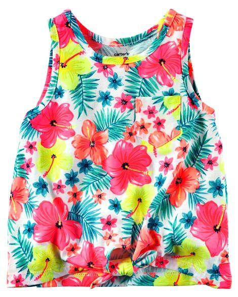 FB1201- Carter s Camiseta Regata Floral Neon 18M (12-18meses) - Mr. Baby fe18b1a590b