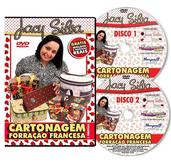 Cartonagem e Forração Francesa com Jacy Silva - DVD DUPLO