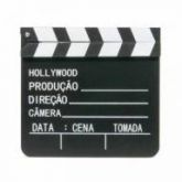 Claquete Madeira Decorativa Cinema 30cm
