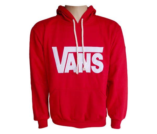 a5ca82428d2 Blusa Moletom Vans Vermelha MOD 76981  Réplica  - tudo barato roupas ...