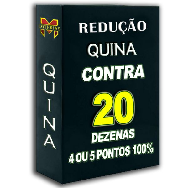 Redução QUINA SUPER 20, busque 3, 4 ou 5 pontos 100%, contra 20 dezenas em 28 apostas.