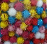 **Pom Pom Bolinha Colorido Festão 1,5cm (100 Unidades)