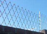 Rede laminada Aço Cortante Galvanizada 6 mts por 1mts