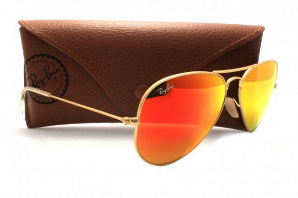 21b2a286830de spain Óculos de sol ray ban rb3025 aviator dourado lente vermelho espelhado  53f39 70c71