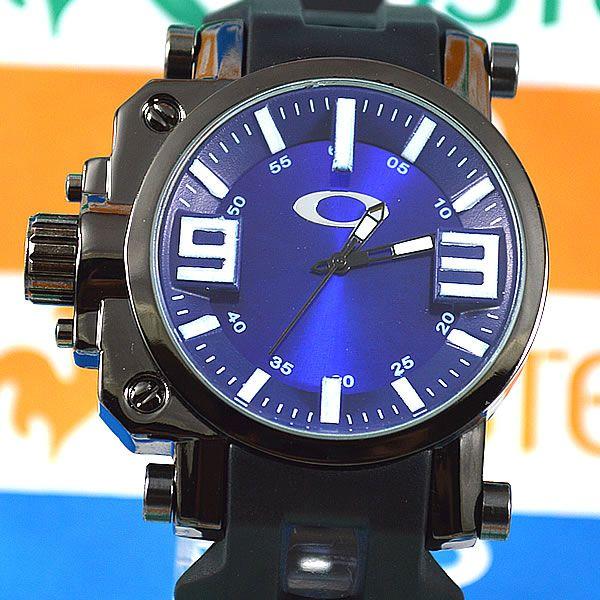 db926fbbb7e Relógio Oakley Gearbox Neymar Preto Fundo Azul Masculino à prova D´água