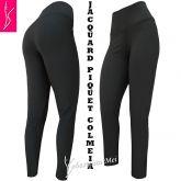 legging cinza escuro (46), cintura alta, tecido jacquard piquet colmeia
