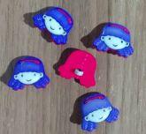 Botões Elaine Rosa e Lilás (12 unidades)