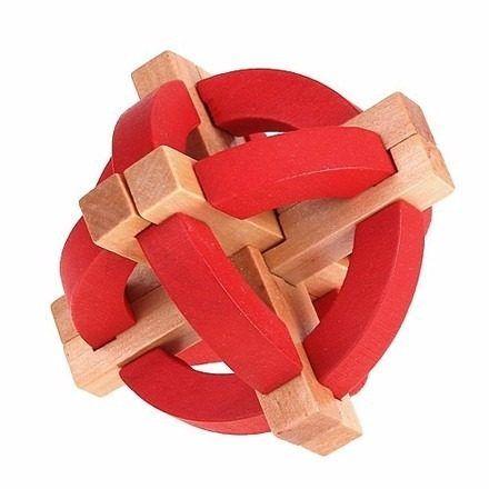 Quebra-cabeça De Madeira Anéis E Asterisco F - G