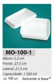 MO-100-1 BANDEJA 1500 ML C/ 100 UN.