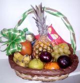 Cesta de frutas com almofadinha