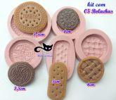 Kit com 05 bolachas/biscoitos - negresco/oreo...
