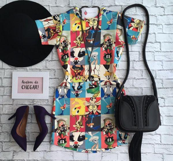 ddb760076d Vestido Looney Tunes - Produtos do Felix
