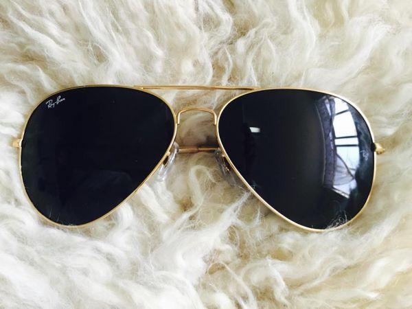 Óculos de Sol Ray-Ban RB3025 Aviator Dourado - Lente Preto - Machado ... f50aca4429
