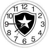 Relógio de parede Botafogo RJ Branco