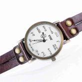 .Relógio de Pulso Matemático Couro