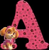 Alfabeto - Patrulha Canina - Skye 2 - PNG