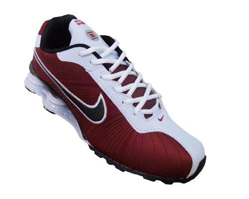 1a0b48c8ec5 Tênis Nike Shox Turbo V Vinho e Branco - Mega Mix Calçados