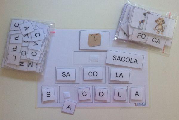Alfabetização Figura, palavra e separação