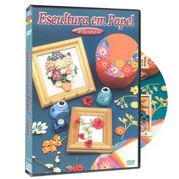 DVD Escultura em Papel - Flores