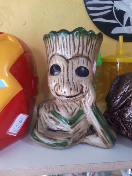 Árvore Homem Cerâmica Decoração Grut