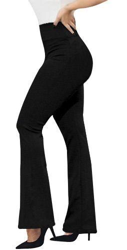 calça flare ou reta (GG-46) preta gramatura média 320