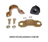 Kit c/ Abraçadeira e Bucha da Barra Estabilizadora Dianteira  Interna Niva (Nova) Ref. 0302