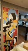 Adesivo para Porta Pop Art Cristo Redentor Rio de janeiro
