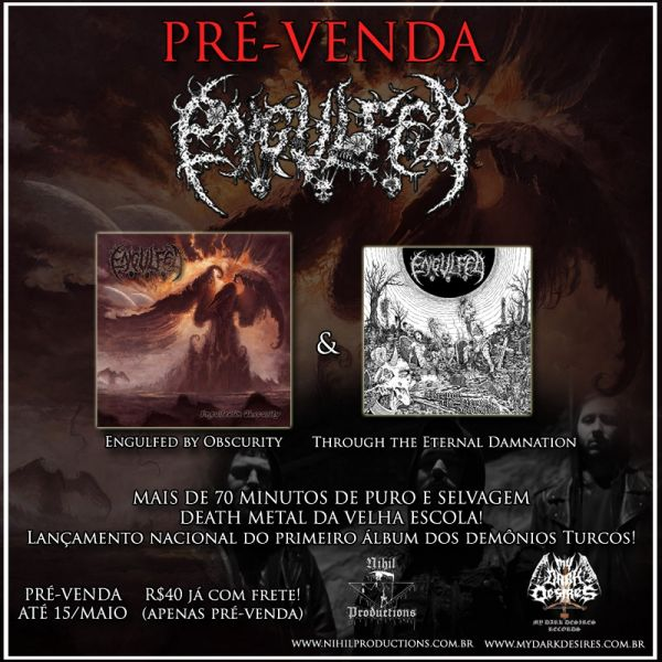 Engulfed – Engulfed In Obscurity & Through The Eternal Damnation - CD