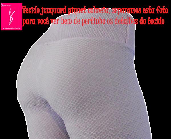 Calça legging(52/54) plus size vermelho escuro em tecido jacquard piquet