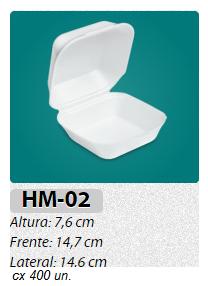 HM 02 ULTRA CAIXA COM 400 UNIDADES IMPRESSA COM LOGOMARCA