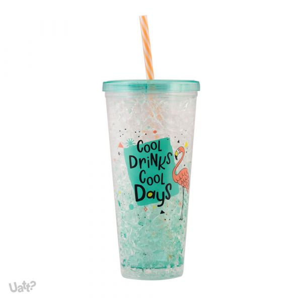 COPO CANUDO TERMICO ICE GEL - COOL DRINKS, COOL DAYS