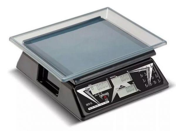 COD 8003 - Balança Ramuza Modelo DCR CL 15kg Bateria