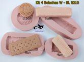 Kit  4 bolachas/biscoito - W - BL 0210