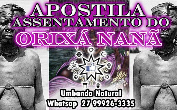 APOSTILA ASSENTAMENTO ORIXÁ NANÃ