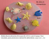 Kit Oceano  borracha atóxica  p/ Alimentício - (BLA 2211 )