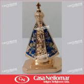 016080 - Nossa Senhora Aparecida 05 cm de Metal Dourada