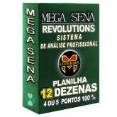 Planilha MEGA-SENA com 12 dezenas em 20 apostas 4, 5 ou 6 pontos 100%