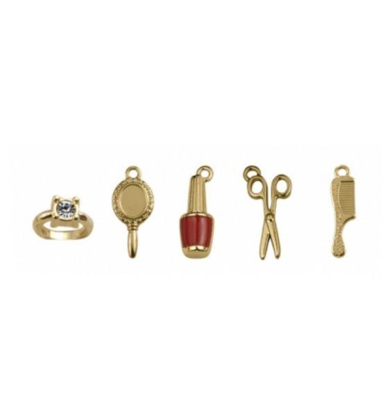 Kit de Pingentes Dourado Salão (5 peças)