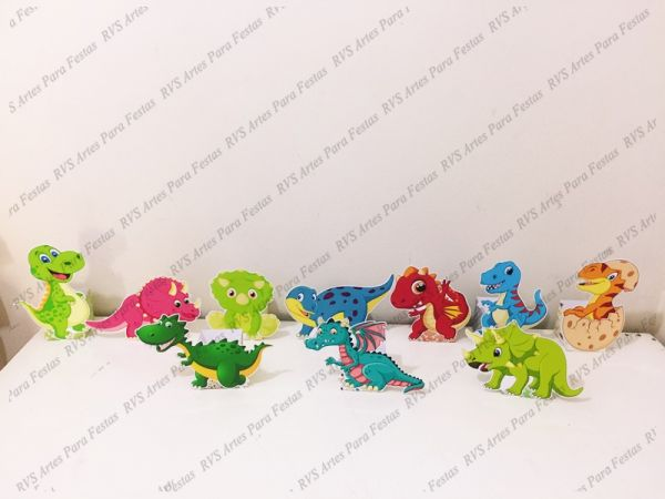 10 Centros de mesa - Dinossauro cute